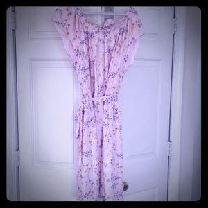 Lauren Conrad Pleated Neck Summer Dress